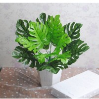12pcs Artificial Palm Fern Turtle Leaves Plastic Silk Fake Plant Leaf Home Decor   222908845237