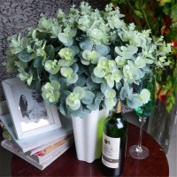 16 Heads Artificial Fake Leaf Eucalyptus Green Plant Leaves Flowers Home Decor >   382508558798