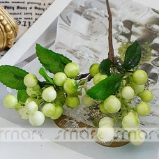 "2 Branches Artificial Silk Light Green Berries Fruit Bouquet Party Decor Home 9""   302845019931"