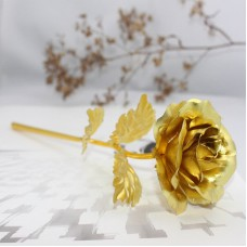 24K Dipped Gold Foil Flower Rose Birthday Mother Day Gift Floral Decor With Box   222977954501