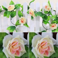 2.4M Artificial Plant Flower Rose Rattan Wedding Party Home Shop Floral Decor   283104127814