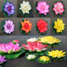 2pcs Plastic Artificial Lotus Floating Flower Fish Tank Decor Water Lily   232751025472