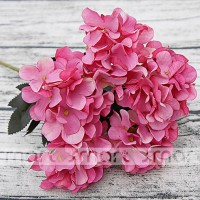 "6 Heads Red Artificial Silk Hydrangea Flower Bouquet Wedding Decor Home 12""   292682256888"