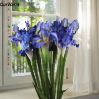 6 Heads Silk Artificial Iris Flowers Fake Bouquet Wedding Party Home Decorations   113105103408