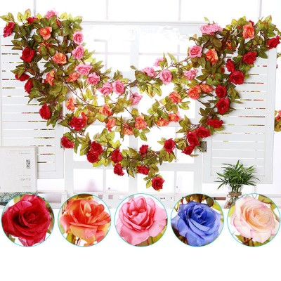 8ft Artificial Silk Rose Flower Ivy Vine Leaf Garland Wedding Party Home Decor   183269999851