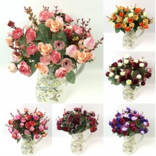 Artificial Fake Silk Rose Flower Bouquet Home Wedding Party Decor   223102685217