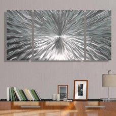 Modern Abstract Silver Metal Wall Art Home Decor - Enlivenment III by Jon Allen 718117175251  351027107651