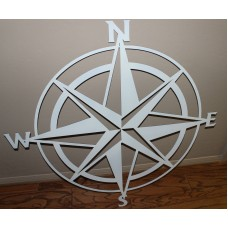 "Nautical COMPASS ROSE 40""  WALL ART DECOR  White Gloss   152233864759"