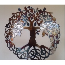 "Tree of Life, Heat Colored, Metal Art, 23.5"", Wall Decor   262245852731"