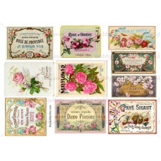 Furniture Decal Image Transfer Vintage Shabby Chic Rose Labels Antique Adverts   292409321182