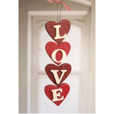 Hanging LOVE Hearts Home Decor Hanger Homewares Gift 38cms BRAND NEW Red   171342474395