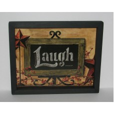 "Laugh Berries Star Chalkboard  9"" X 11"" Primitive Country Wall Decor   222946491147"