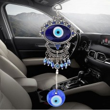 Turkish Oval Blue Evil Eye Amulet Wall Hanging Car Decor Blessing Protector Gift 800030414774  372325577339