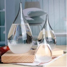 Weather Forecast Crystal Drop Water Shaped Storm Glass New Year Home Decor Gift   183226911561