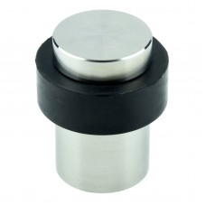 Rubber Door Stopper With Decorative Stainless Steel Base, Fixings Included 5060486386246  113063060589
