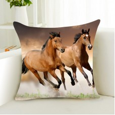 "18""Running Horse Polyester Throw Sofa Pillow Case Waist Cushion Cover Home Decor   292383139816"