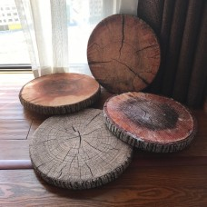 3d Round circle tree wood stump pillow seat sofa seat cushion home decor brown    232766692133