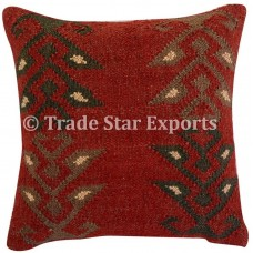 Indian Vintage Kilim Cushion Cover 18x18 Handwoven Jute Throw Rustic Pillow Case   323351795167