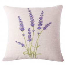 Lavender Flax Pillow Case Car Sofa Bed Waist Throw Cushion Covers Home-Deco ZH6 192090621330  123310372755