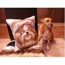 PILLOW PUG CUSHION COVER GOBELIN TAPESTRY Decorative Cover Funny Dog and filling   253815634829