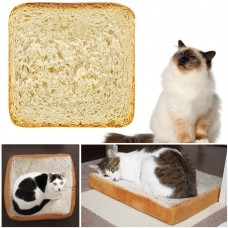 Pet Supplies Soft Pillow Cat Plush Toy Simulation Bread Slices Toast Cushion 747822697789  263000622176