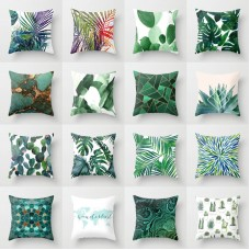Polyester pillow case cover green leaves throw sofa car cushion cover Home Decor   132540294396