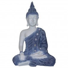 1pce 40cm Blue Willow Rulai Buddha Statue, Meditating 9319844570732  362221558183
