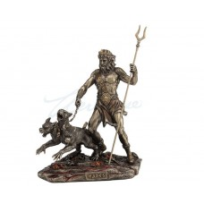 Hades Holding Staff With Cerberus Statue Sculpture Figure 6944197131922  263223168294