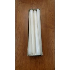 "Candles Tapers Smokeless Dripless and Long Burning 10"" 12"" 15"" Wh Unwrapped 1 Dz   152438190399"