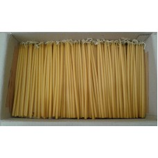"Natural Beeswax Lot of 25 50 65 135 270 675 1080 2160 Candles 9"" 23cm    323258848381"
