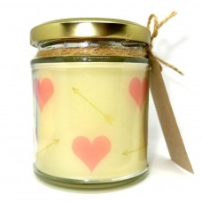 Pink Heart design Scented Jar Candle, Valentines Day, gift, Birthday, Wedding   162880935770
