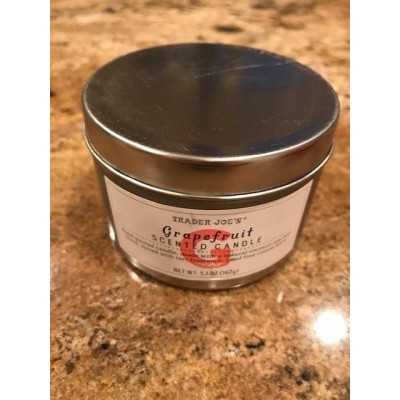 Trader Joe's Grapefruit 5.5oz Scented Candle   202402783689