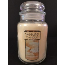 Yankee Candle BUTTERCREAM 22 Oz Jar Candle   263540706809