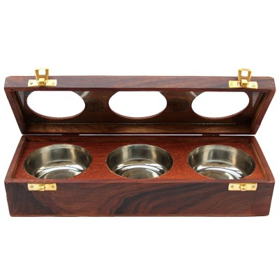 Beautiful Handmade Wooden Box Dry Fruit / Spice Container Antique for Home Deco   253409276500