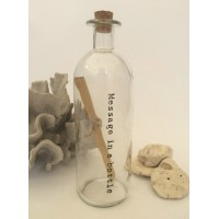 Vintage Glass Message in a Bottle First 1st Paper Wedding Anniversary Gift  5060079546514  113122716956