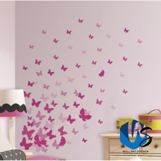 37 Mixed size Butterfly Design Wall Art Stickers Kid Decals baby nursery bedroom   142425938723