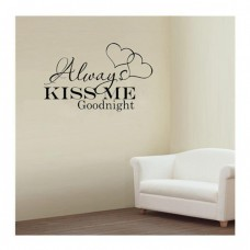 Always Kiss Me Goodnight Love Wall Sticker Quote Decal Decor Vinyl Removable LD   201961478436