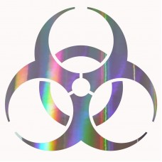 Bio-hazard Sticker Buy 1 Get 1 Free Every Quantity Bio-hazard Symbol Decal   172129668219