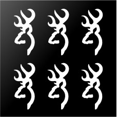 Browning Buck Deer Hunting Logo Vinyl Decals 6 Small Phone Laptop Stickers   162341681142