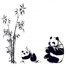 DIY Removable Panda eating bamboo Vinyl Decal Wall Art Sticker  E4K3 190268397506  273366165056