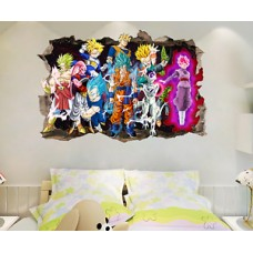Dragon Ball Z Goku Cartoon 3D Kids Anime Break The Wall Stickers Vinyl Decal   222944032064