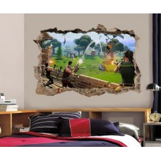 Fortnite 3D Smashed Wall Sticker Decal Home Decor Art Mural J1204   302706724895