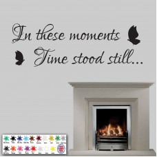 In These Moments Time Stood Still - Wall Sticker, Butterfly Art Memories      201533752947