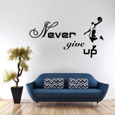 Michael Jordan Never Give Up Basketball Wall Sticker Sport Boy Room Decal Decor   122928475738