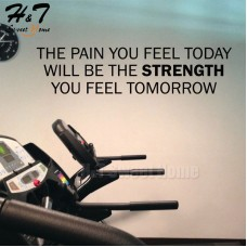 Pain Today Will Be Strength Quotes Vinyl Wall Sticker Decal Gym Gymnasium Office   222442761359