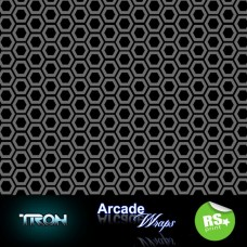Tron  HEX PATTERN Arcade Machine Artwork  Wrap sticker Retro Game Theme Lrg   331200738228