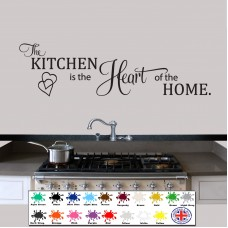Wall Stickers Quote The Kitchen is The Heart of the Home, Wallart,  Decal    201509814225