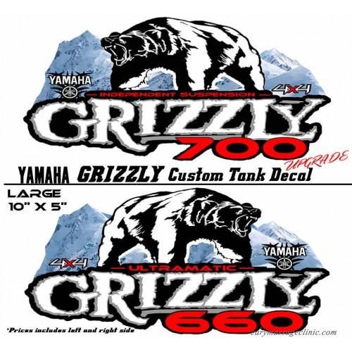 Yamaha Grizzly OEM ATV Tank Decal Graphic Sticker Kit 350 450 550 ...